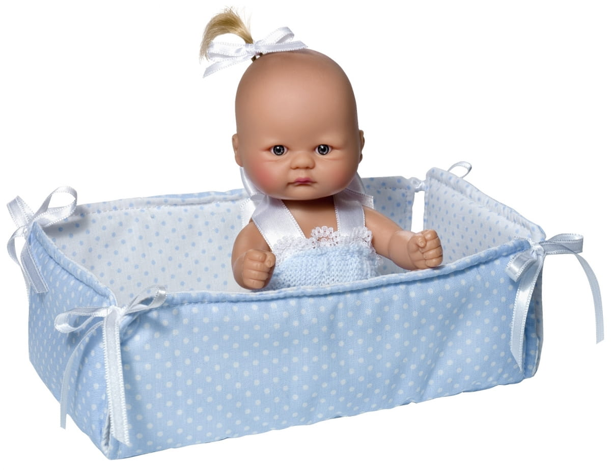 Кукла -пупсик ASI - 20 см (в голубом манеже)