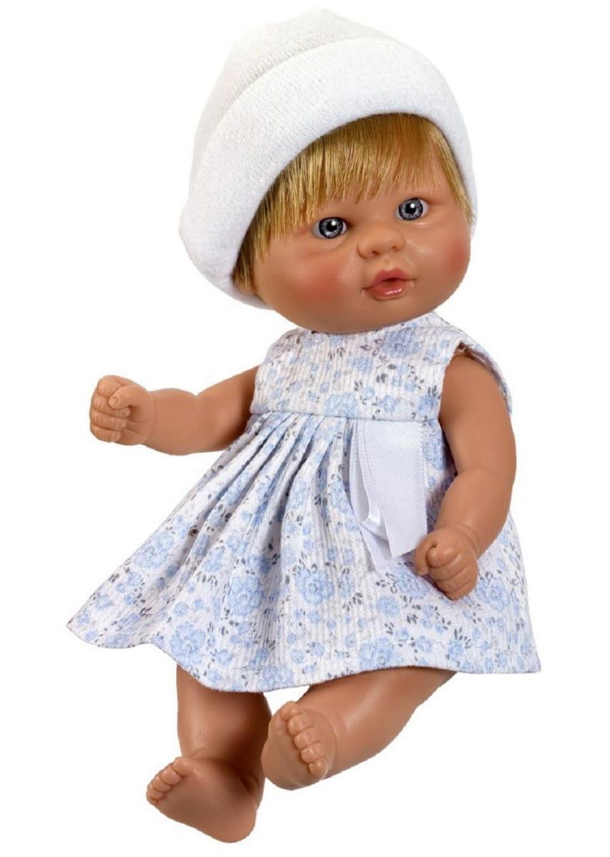 Кукла-пупсик ASI - 20 см (в бело-голубом платье)