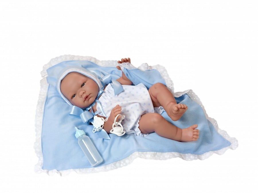 Кукла-пупс Asi 363511 Пабло - 45 см (в белом комбинезоне и голубом конверте)