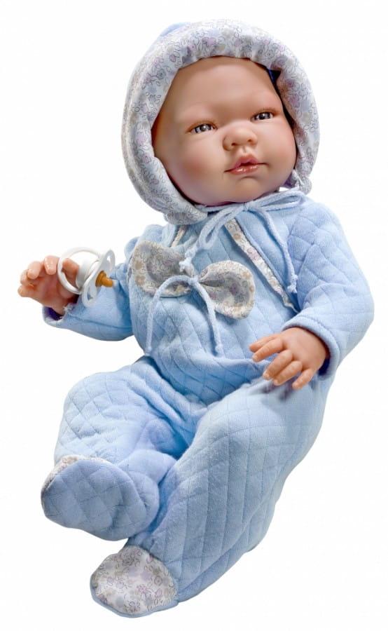 Кукла-пупс Asi 363751 Пабло - 43 см (в голубом комбинезоне)