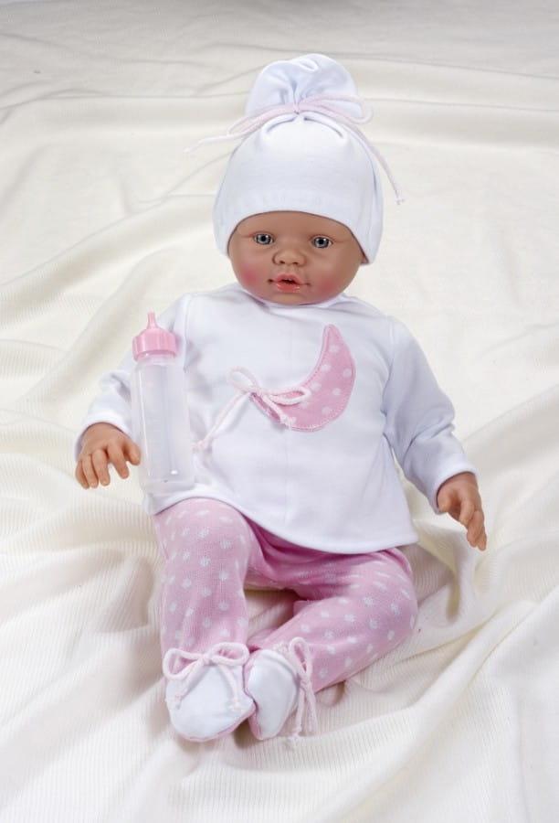 Кукла-пупс Asi 2423048 Неус - 45 см (в пижамке, с бутылочкой)