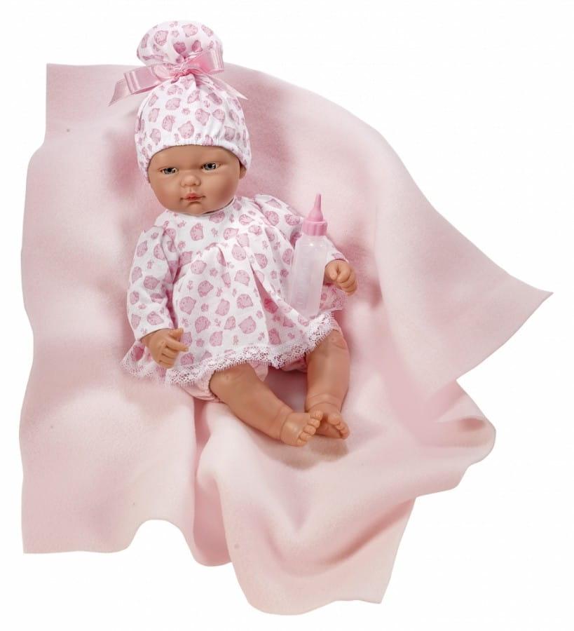Кукла-пупс Asi 453830 Оли - 30 см (с розовым пледом и бутылочкой)