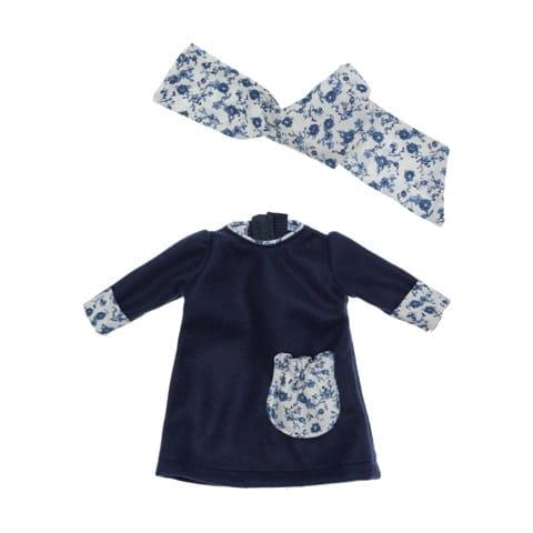 Одежда для кукол Asi 0000104 Темно-синее платье - 30 см