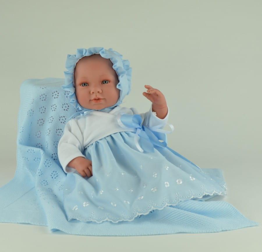 Кукла-пупс Asi 343090 Соня - 50 см (в голубом костюме, с пледом)
