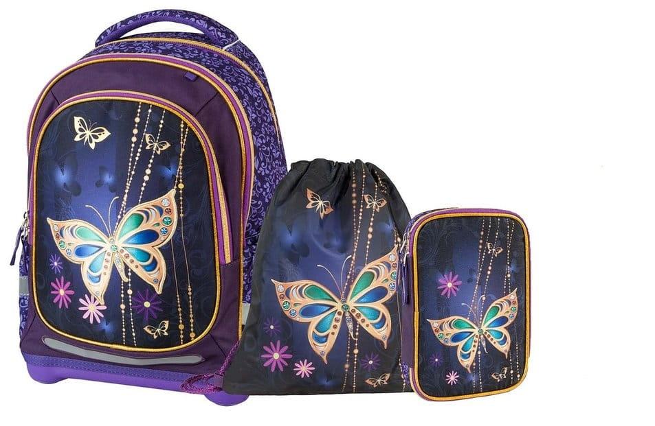 Супер легкий рюкзак Target Collection 19664 Золотая бабочка 4 в 1