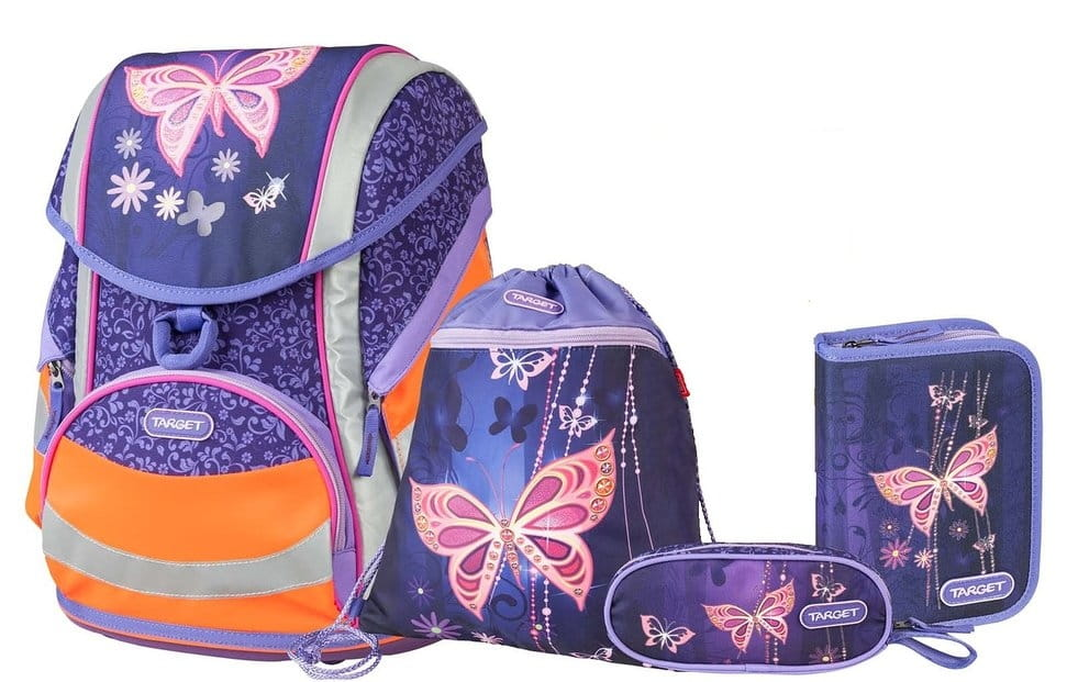 Ранец Target Collection 17982 Золотая бабочка 5 в 1