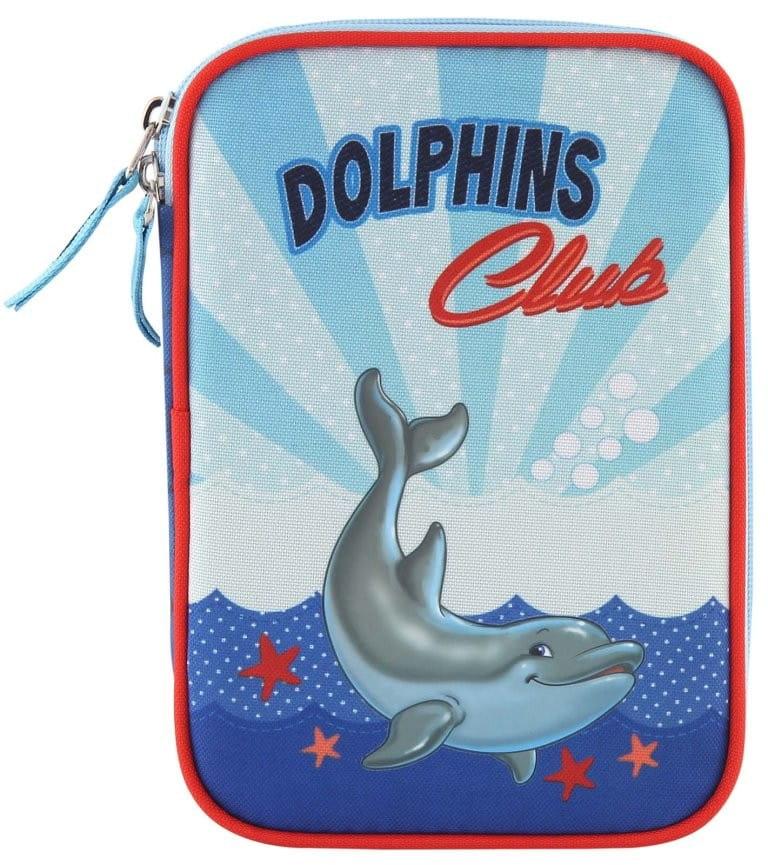 Пенал с канцтоварами Target Collection 17311 Дельфин