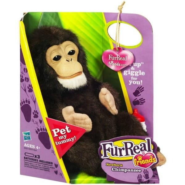 Купить Интерактивная игрушка FurReal Friends Новорожденная обезьянка (Hasbro) в интернет магазине игрушек и детских товаров