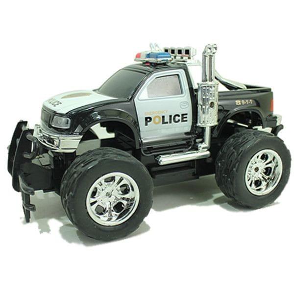 Радиоуправляемый джип Yako М81629 FullFunc Safari - Полиция черный пикап с выхлопом пароход