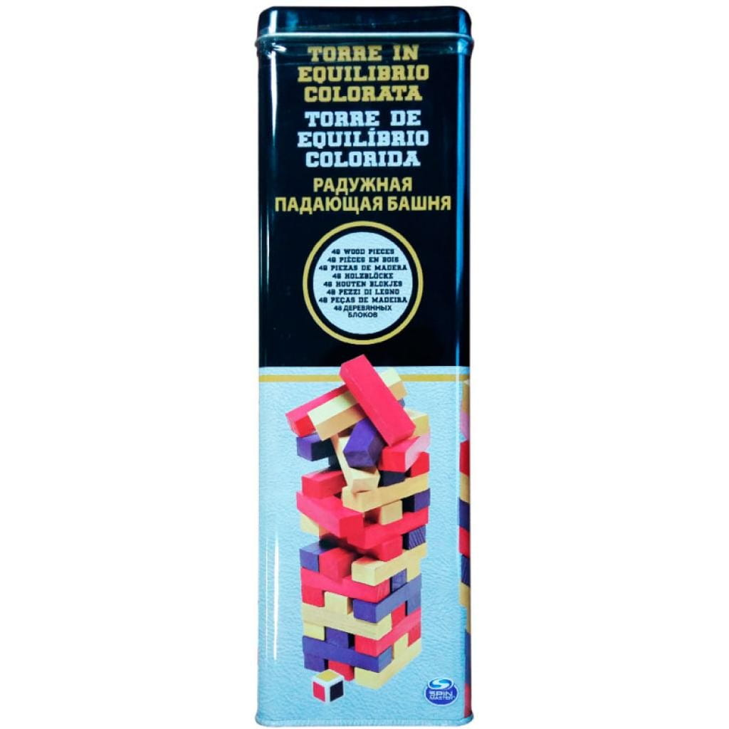 Настольная игра Spin Master 6033150 Падающая башня (цветная)