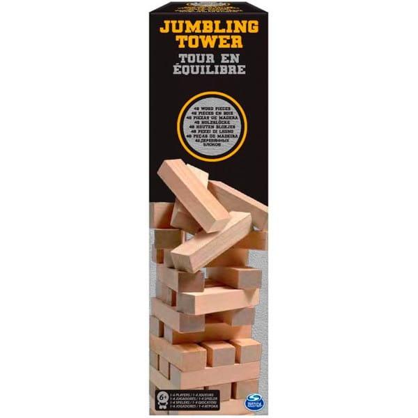 Настольная игра Spin Master 6033148 Падающая башня (в жестяной банке)