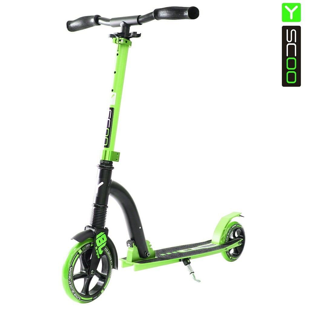 Самокат Y-Scoo 5383 RT Slicker 180 Deluxe - Green
