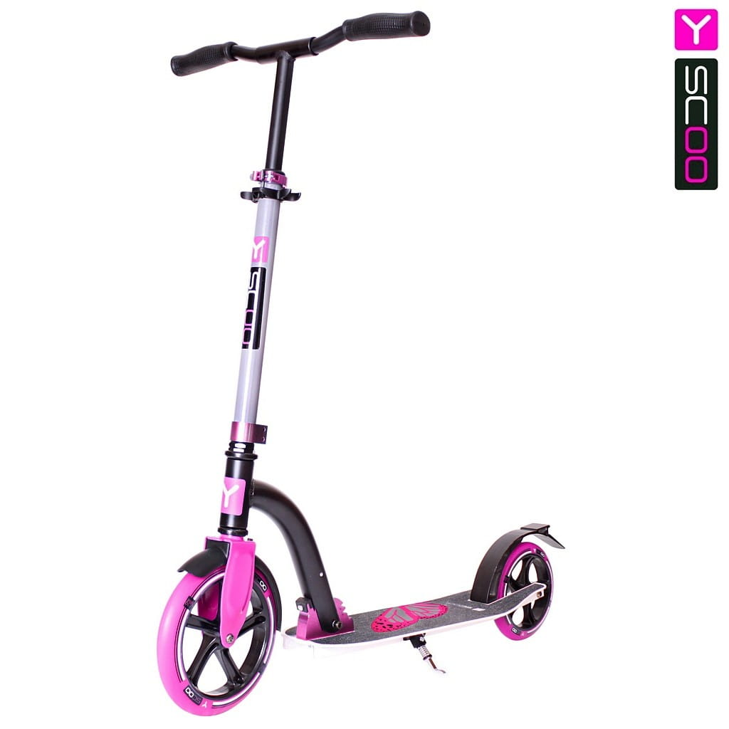 Самокат Y-SCOO RT 230 Slicker Family design - Butterfly pink