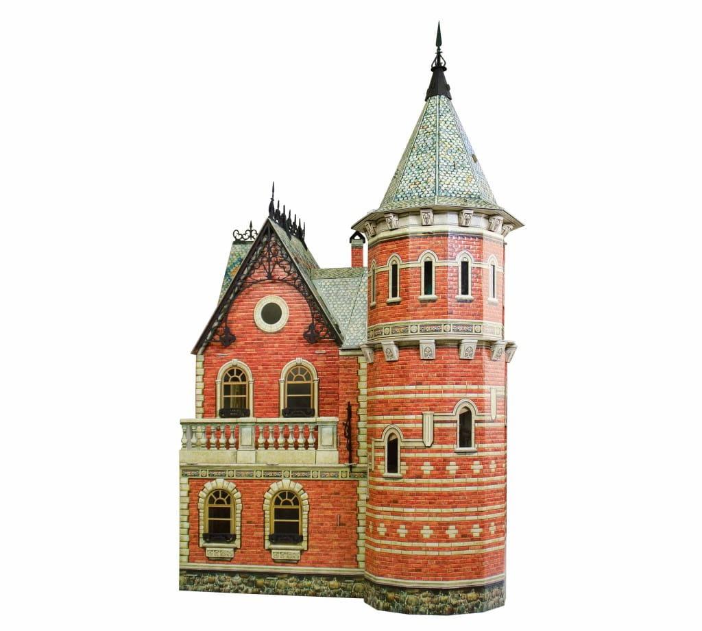 Сборная модель Умная Бумага Р70514 Кирпичный кукольный домик с башней