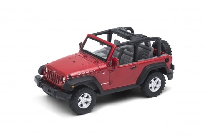 Машинка Welly 39885C Jeep Wrangler Rubicon 1:31