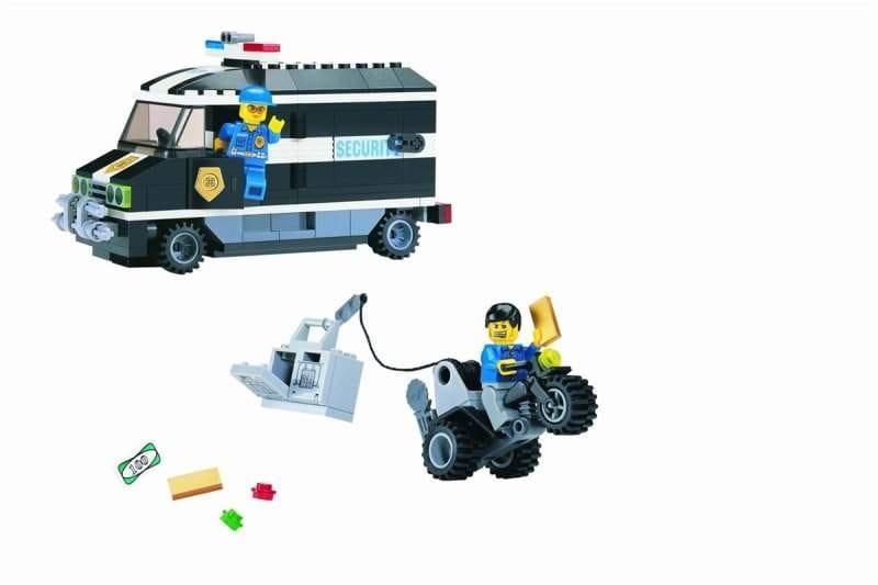 Конструктор Enlighten Brick Г21622 Cash Truck Полицейский фургон - 209 деталей