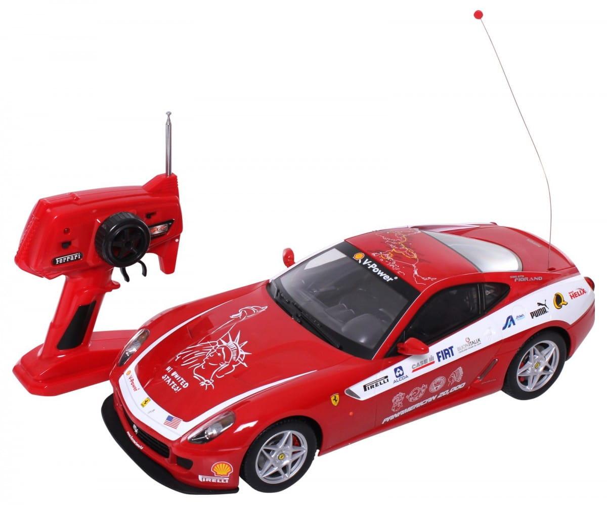 Радиоуправляемая машина MJX Ferrari 599 GTB Fiorano 1:10 красная с белым
