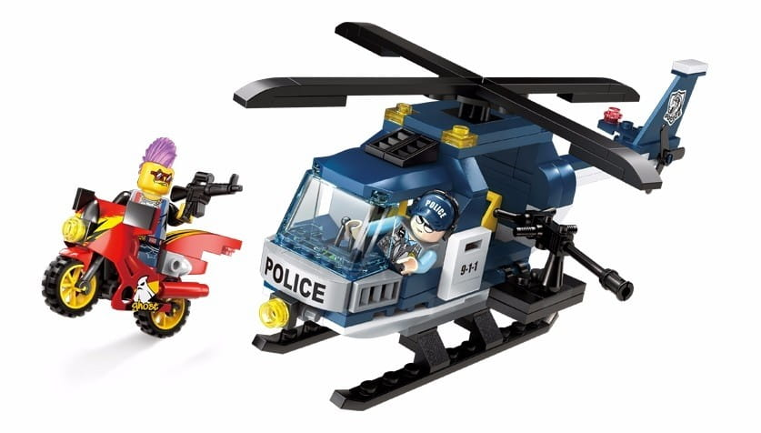 Конструктор Enlighten Brick Г78512 Police Полицейский Вертолет - 157 деталей