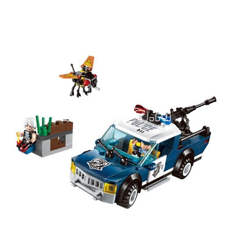 Конструктор Enlighten Brick Г78514 Police Полицейская машина с оружием - 186 деталей