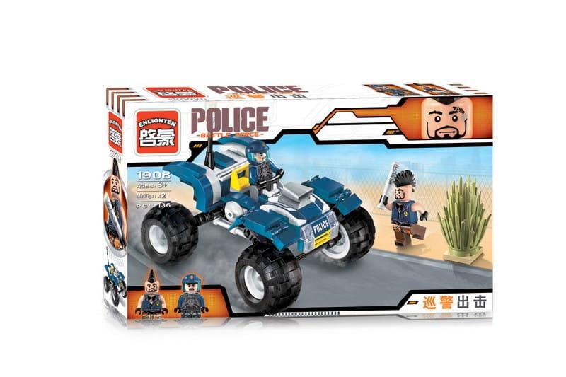 Конструктор Enlighten Brick Г78515 Police Полицейский квадроцикл - 139 деталей