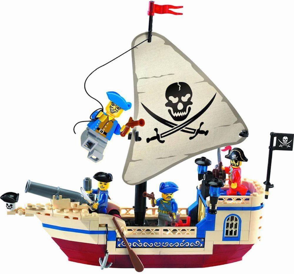 Конструктор ENLIGHTEN BRICK Pirates Series Пиратский корабль -188 деталей