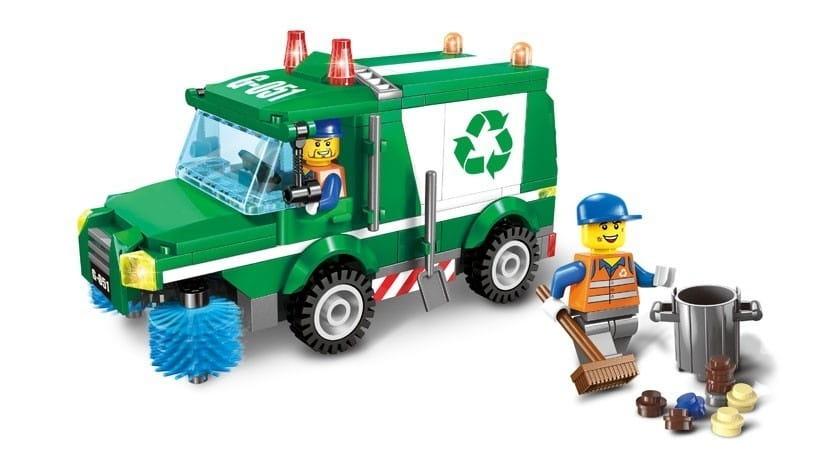 Конструктор Enlighten Brick Г79602 Машина для чистки дорог - 198 деталей
