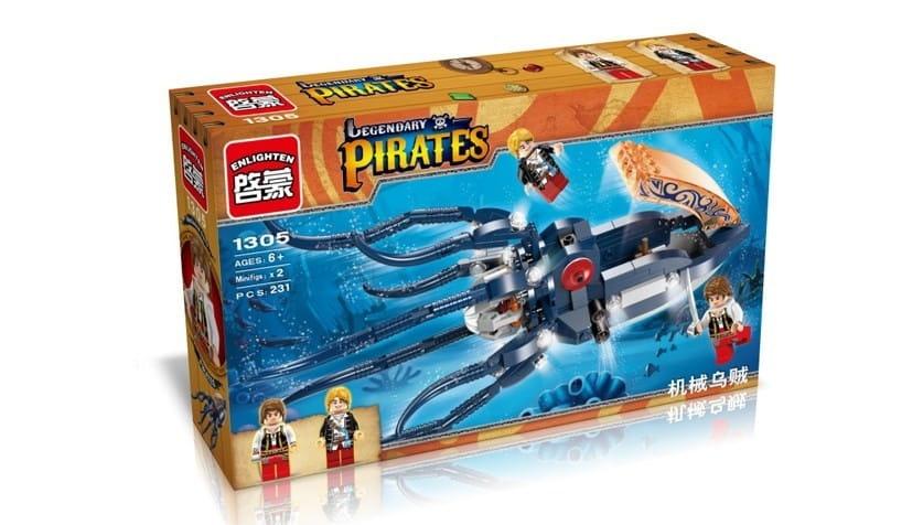 Конструктор Enlighten Brick Г79617 Pirates Legendary Подводная лодка - 231 деталь