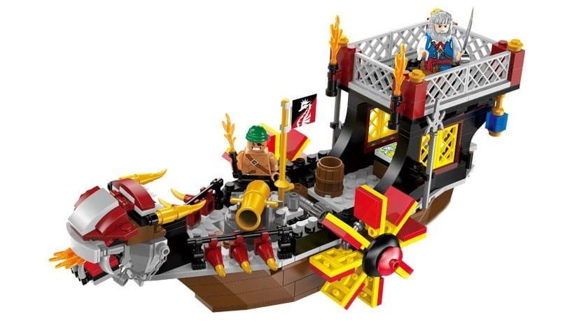Конструктор Enlighten Brick Г79619 Pirates Legendary Корабль с пушкой - 345 деталей