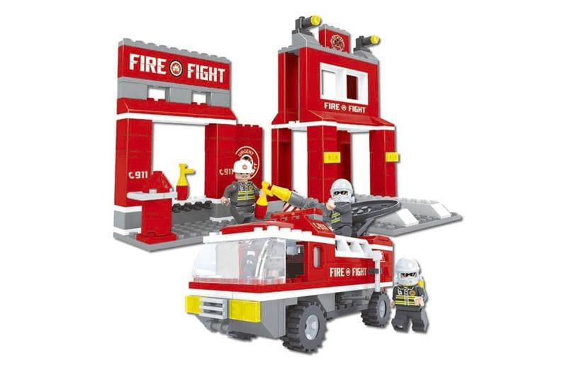 Конструктор AUSINI Пожарная бригада Станция и машина - 301 деталь