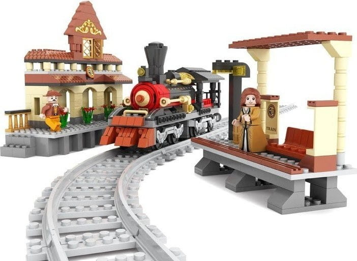 Конструктор Ausini Train Поезд - 462 детали