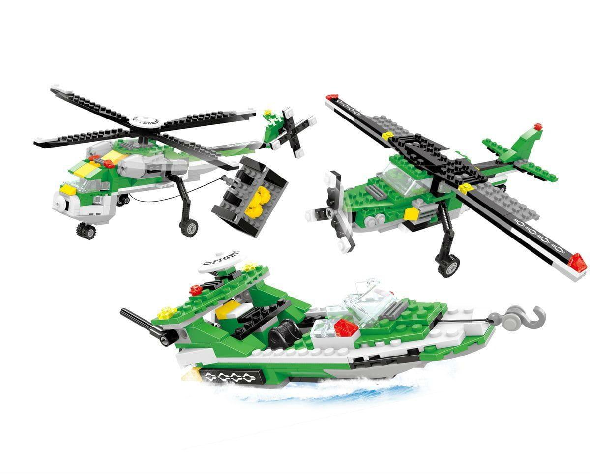 Конструктор Ausini Г79560 Армия Вертолет 3 в 1 - 300 деталей
