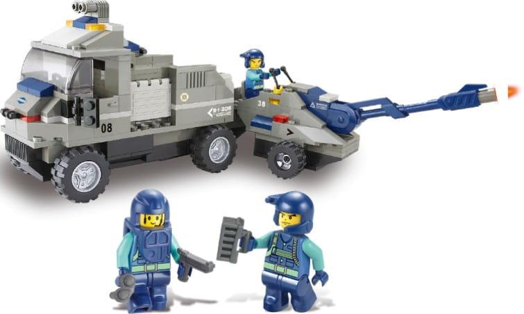 Конструктор Sluban Г28692-1 Военный грузовик - 232 детали