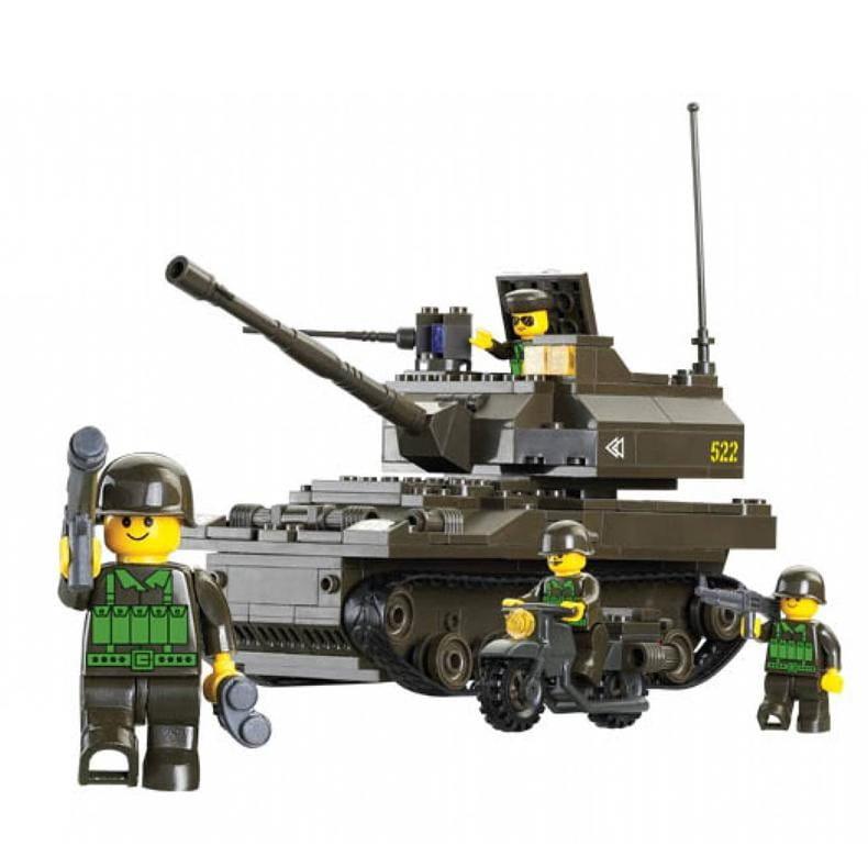 Конструктор Sluban Г28709 Сухопутные войска Танк - 258 деталей