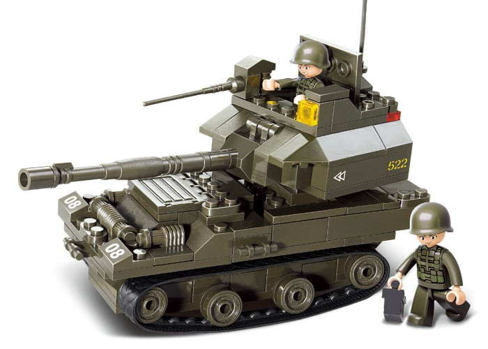 Конструктор Sluban Г35965 Танк - 178 деталей