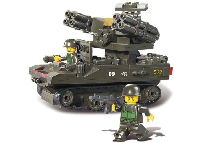 Конструктор SLUBAN Танк с двумя пушками - 212 деталей