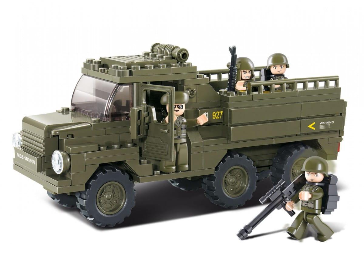 Конструктор Sluban Г35969 Военный грузовик - 230 деталей