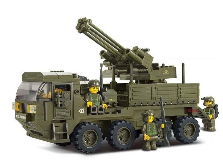 Конструктор Sluban Г35970 Машина с реактивной артиллерией -306 деталей