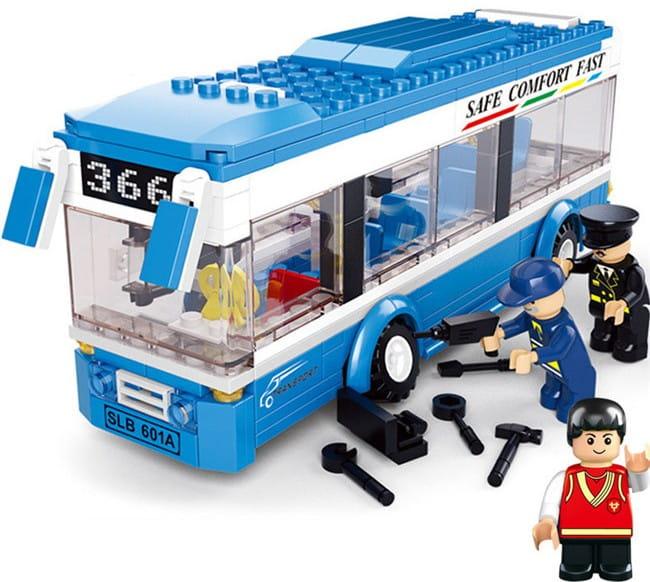 Конструктор Sluban Г43410 Городской автобус - 235 деталей