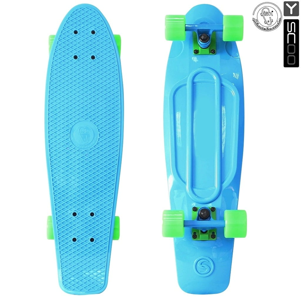 Скейтборд Y-Scoo 5819 Fishskateboard 22 дюйма - Blue-green