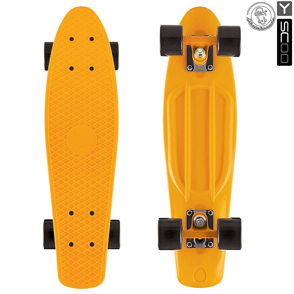 Скейтборд Y-Scoo 5820 Fishskateboard 22 дюйма - Orange-black