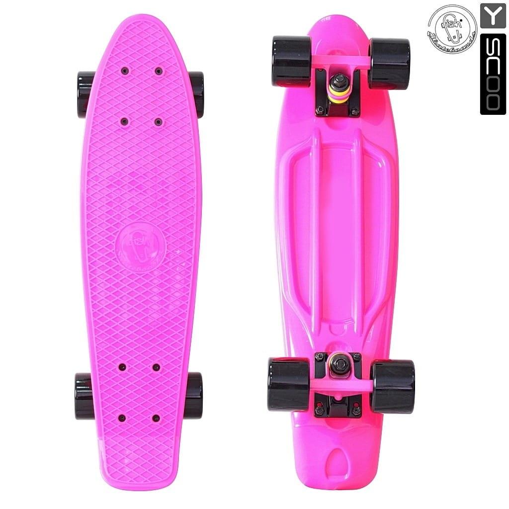 Скейтборд Y-Sсoo 5920 Fishskateboard 22 дюйма - Pink-black