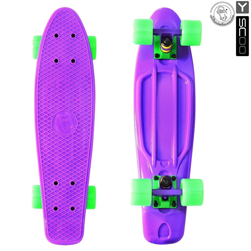 Скейтборд Y-Sсoo 5921 Fishskateboard 22 дюйма - Purple-green