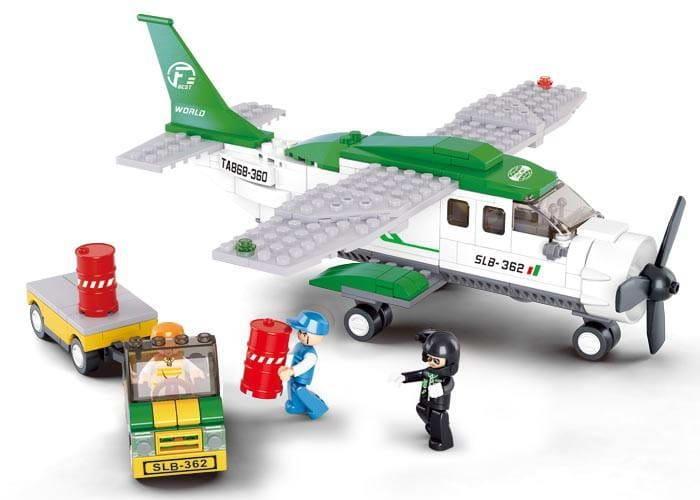 Конструктор SLUBAN Грузовой самолет-погрузчик - 251 деталь