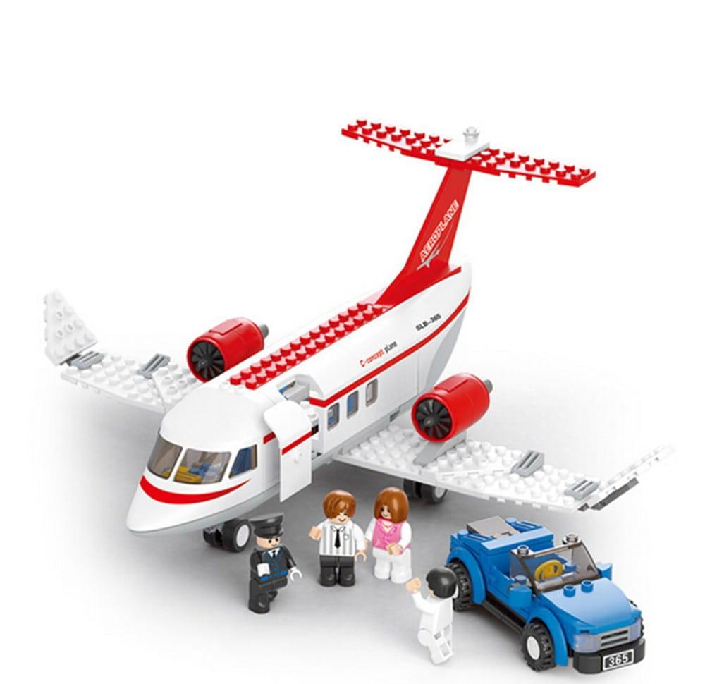 Конструктор Sluban Г51060-1 Самолет-машинка - 275 деталей