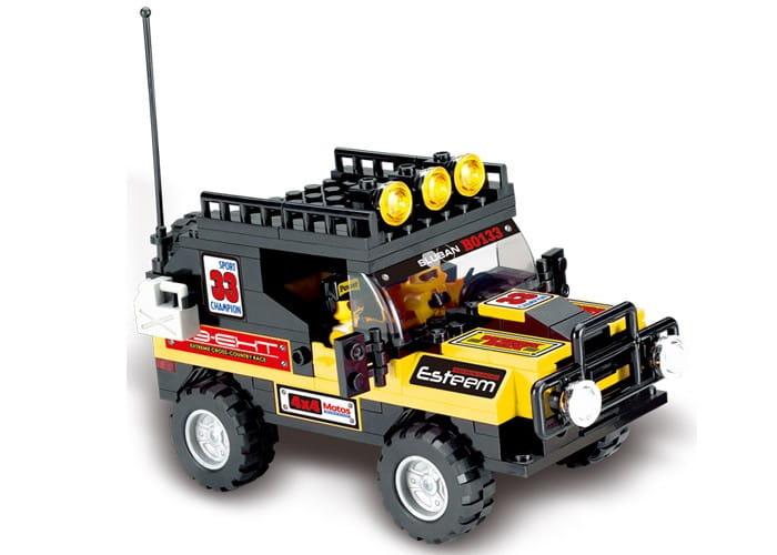 Конструктор Sluban Г71975 Внедорожник с желтыми вставками - 172 детали