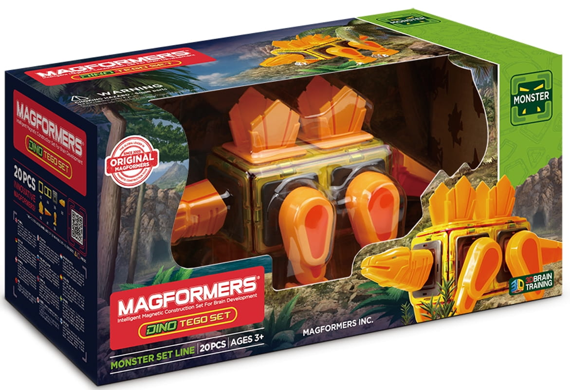 Магнитный конструктор MAGFORMERS Dino Tego Set (20 деталей)