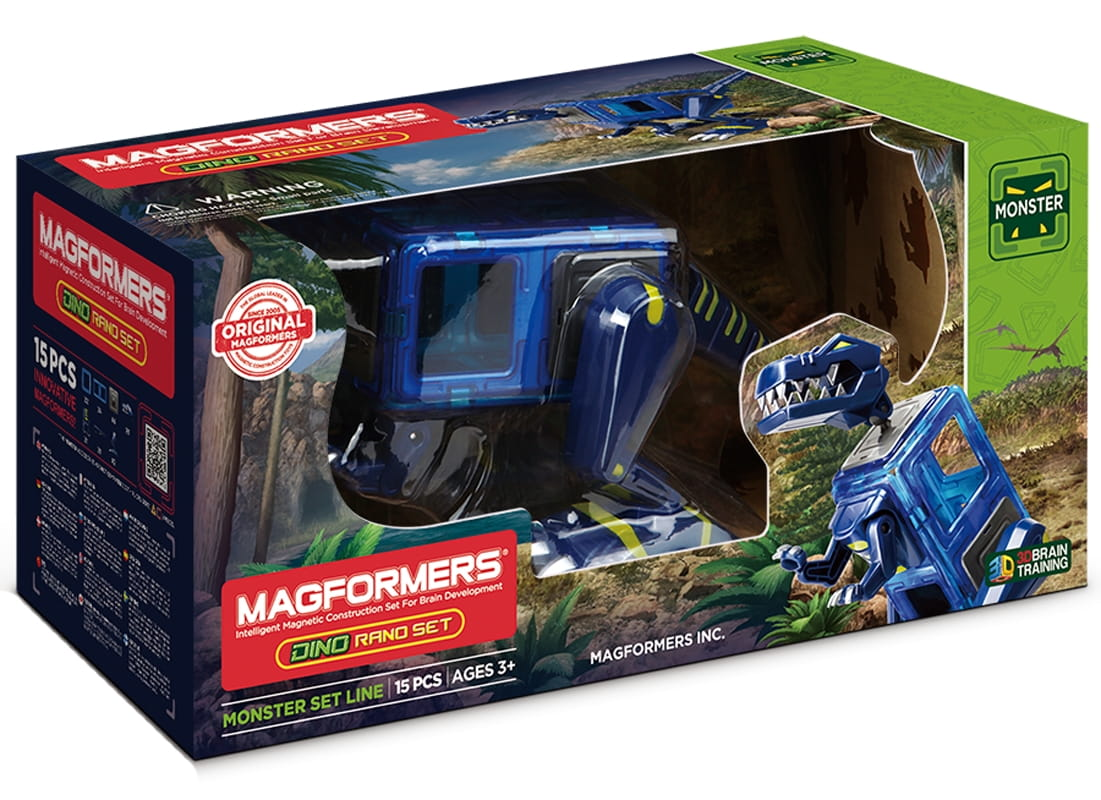 Магнитный конструктор MAGFORMERS Dino Rano set (15 деталей)