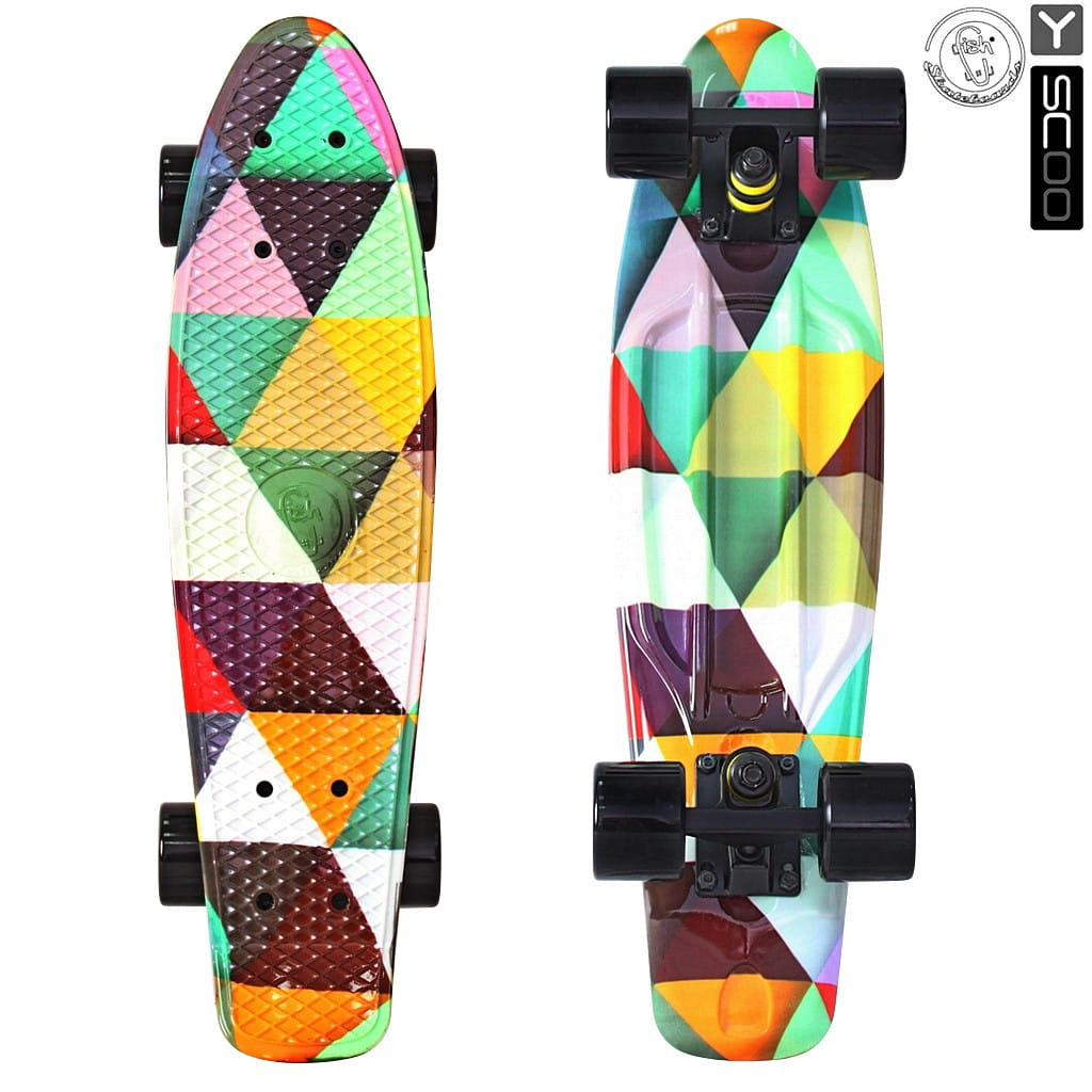 Скейтборд Y-Scoo 5815 Fishskateboard 22 дюйма - Triddent