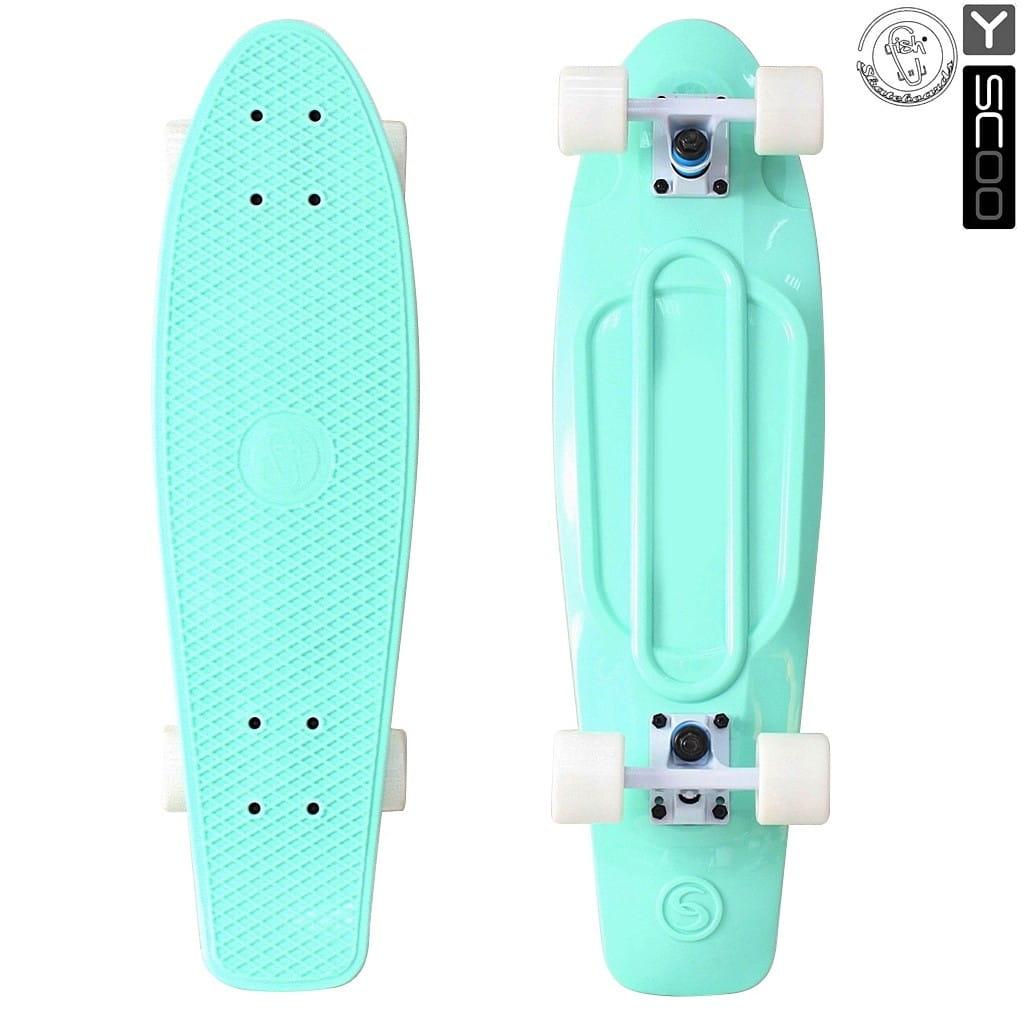 Скейтборд Y-Sсoo 5933 Fishskateboard 27 дюймов - Aqua-white