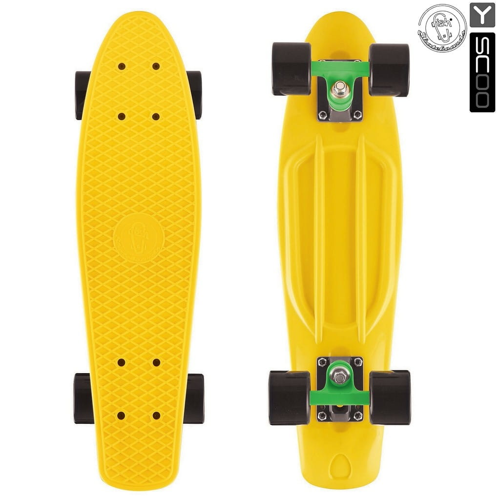 Скейтборд Y-Scoo 5929 Fishskateboard 27 дюймов - Green-black
